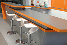 reception counters, bars and back fittings